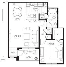 Bell Pembroke Pines A1A Floor Plan